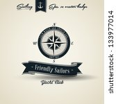 compass vintage retro nautical... | Shutterstock .eps vector #133977014