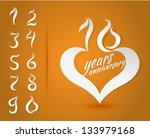 10 years anniversary birthday... | Shutterstock .eps vector #133979168