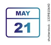 may 21st date on a single day... | Shutterstock . vector #1339810640
