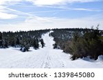 snow mountain path. mountain... | Shutterstock . vector #1339845080