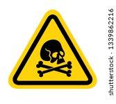 skull and bones warning sign.... | Shutterstock .eps vector #1339862216