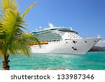 Luxury Cruise Ship Sailing Fro...