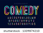 condensed colorful display font ... | Shutterstock .eps vector #1339874210