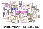 Pinecone Tagcloud Mixed Isolated