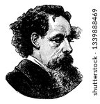 Charles Dickens 1812 to 1870 he was an English writer and social critic one of the most popular English novelists of the Victorian era as well as a vigorous social campaigner vintage