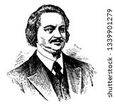 honore de balzac 1799 to 1850... | Shutterstock .eps vector #1339901279