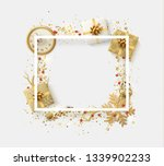 design christmas frame with... | Shutterstock . vector #1339902233