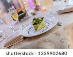 wedding banquet table setting    Shutterstock . vector #1339902680