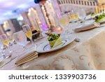 wedding banquet table setting   Shutterstock . vector #1339903736