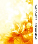 Abstract Yellow Flower Card ...