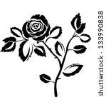 rose | Shutterstock .eps vector #133990838