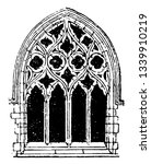 small gothic window tracery... | Shutterstock .eps vector #1339910219