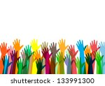 hands of money vector... | Shutterstock .eps vector #133991300