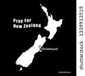 pray for new zealand.... | Shutterstock .eps vector #1339913519
