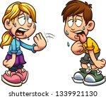 cartoon boy and girl suffering...   Shutterstock .eps vector #1339921130