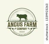angus farm classic logo design | Shutterstock .eps vector #1339923263