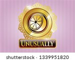 gold badge or emblem with... | Shutterstock .eps vector #1339951820