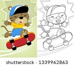 coloring book or page with... | Shutterstock .eps vector #1339962863