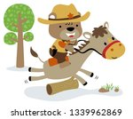 little bear cartoon the funny... | Shutterstock .eps vector #1339962869