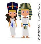 pharaoh and cleopatra vector... | Shutterstock .eps vector #1339987679