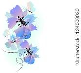 flowers design | Shutterstock .eps vector #134000030