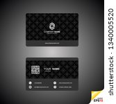 business card templates with... | Shutterstock .eps vector #1340005520