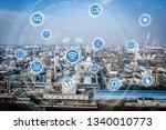 smart factory concept. internet ... | Shutterstock . vector #1340010773