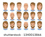 set of mens avatars with... | Shutterstock .eps vector #1340013866