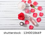 perfume  body care and beauty... | Shutterstock . vector #1340018669