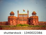 red fort is a historic fort...   Shutterstock . vector #1340022386