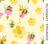 seamless pattern with flying... | Shutterstock .eps vector #1340024726