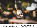 light bulb background   Shutterstock . vector #1340037716