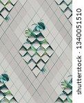 argyle. seamless pattern of... | Shutterstock . vector #1340051510