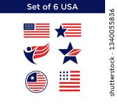 set of united states flag usa... | Shutterstock .eps vector #1340055836