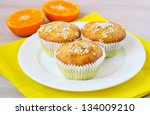 Orange And Oat Muffins On The...