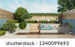garden on two levels with a... | Shutterstock . vector #1340099693