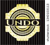 undo golden badge or emblem | Shutterstock .eps vector #1340103113