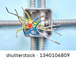 junction box wiring diagram for ... | Shutterstock . vector #1340106809