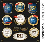 golden sale labels retro... | Shutterstock .eps vector #1340111759