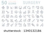 set of line icons of surgery...   Shutterstock . vector #1340132186