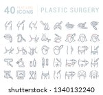 set of line icons of plastic... | Shutterstock . vector #1340132240