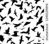 seamless flying birds... | Shutterstock .eps vector #1340139896
