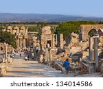 Ancient Ruins In Ephesus Turke...