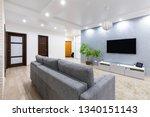 modern living room. modern... | Shutterstock . vector #1340151143