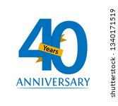 forty years anniversary paper... | Shutterstock .eps vector #1340171519