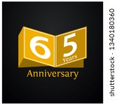 sixty five years anniversary... | Shutterstock .eps vector #1340180360