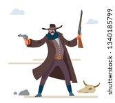 the character is a cruel bandit ...   Shutterstock .eps vector #1340185799