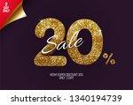 shine golden sale 20  off  made ... | Shutterstock .eps vector #1340194739