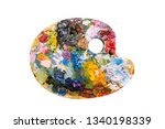 pallette on a white background   | Shutterstock . vector #1340198339