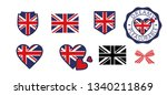 flag of great britain in the... | Shutterstock .eps vector #1340211869